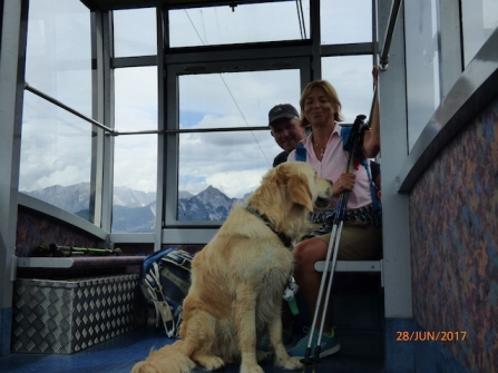 Harley'sFirstCableCarRide.Seefeld