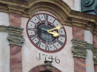 ChurchClockMittenwaldBavaria