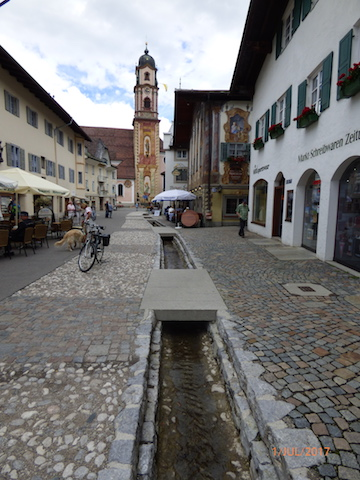 MedievalStreamCourseReinstated.Mittenwald.Bavaria